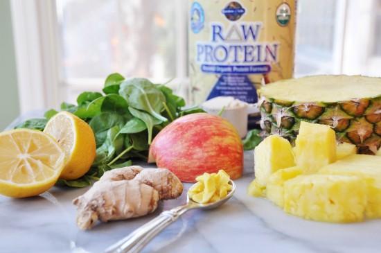 Ingredients for a Vegan Virus Smasher Smoothie