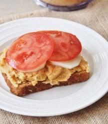 Ingredients for Mediterranean Sandwich with Spicy Hummus