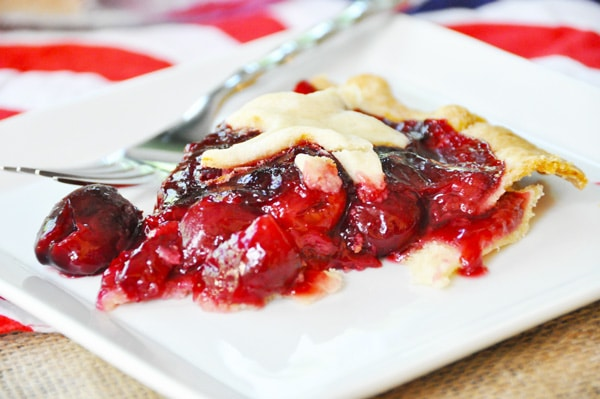 Chambord cherry pie