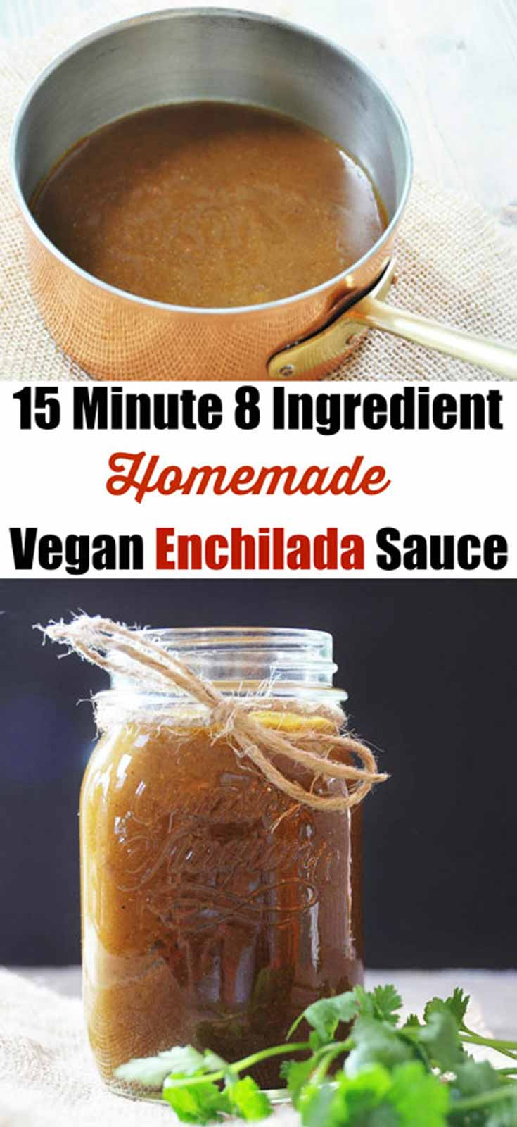 Homemade Vegan Enchilada Sauce! Only 15 minutes and 8 ingredients!