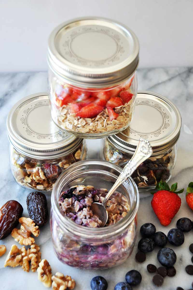 Make your own flavored instant oatmeal! You'll save money and it's so much healthier! See four different recipe ideas at www.veganosity.com