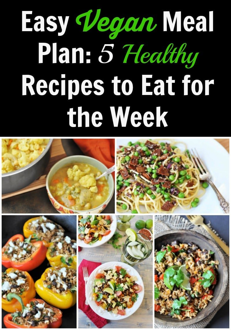 Healthy and Easy Vegan Dinners for a Busty Weeknight Soup, spaghetti, stuffed peppers, black beans and rice