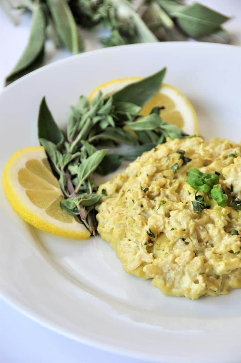 Creamy lemon and herb risotto! Made with oregano, sage, and basil.