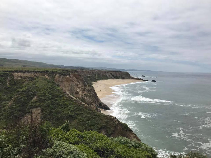 The coast at Half Moon Bay, CA