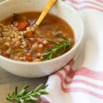 Italian Lemon Rosemary Barley Soup