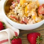 Easy & Healthy Strawberry Peach Overnight Oats