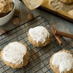 Frosted Apple Cinnamon Oat Cookies