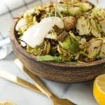 Easy & Healthy Brussels Sprouts Salad with Vegan Caesar Dressing