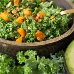 Avocado - Kale Salad with Butternut Squash