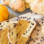 Pumpkin Vanilla Chocolate Chip Braided Bread
