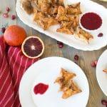 Shiitake Mushroom & Ricotta Stuffed Wonton Purses