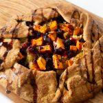Savory Roasted Sweet Potato & Beet Galette