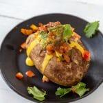 Vegan Nacho Stuffed Potatoes