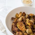 Breaded Maple Glazed Roasted Brussels Sprouts